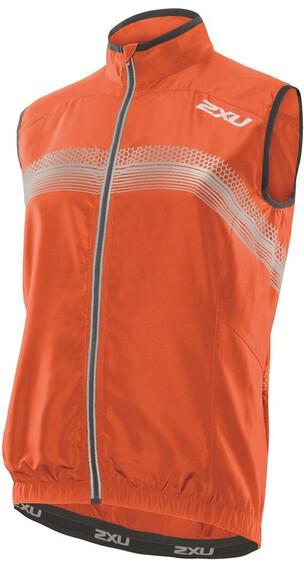 2XU M's Microclimate Reflector Vest Blazing Orange/Charcoal